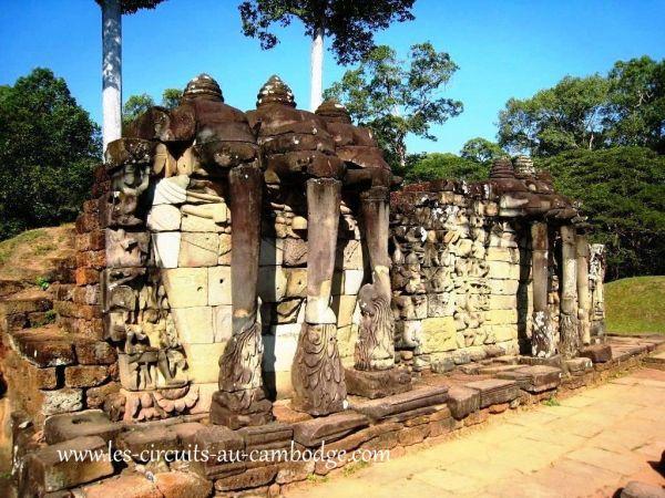 Terrasse Elephants Siem Reap Temple Angkor
